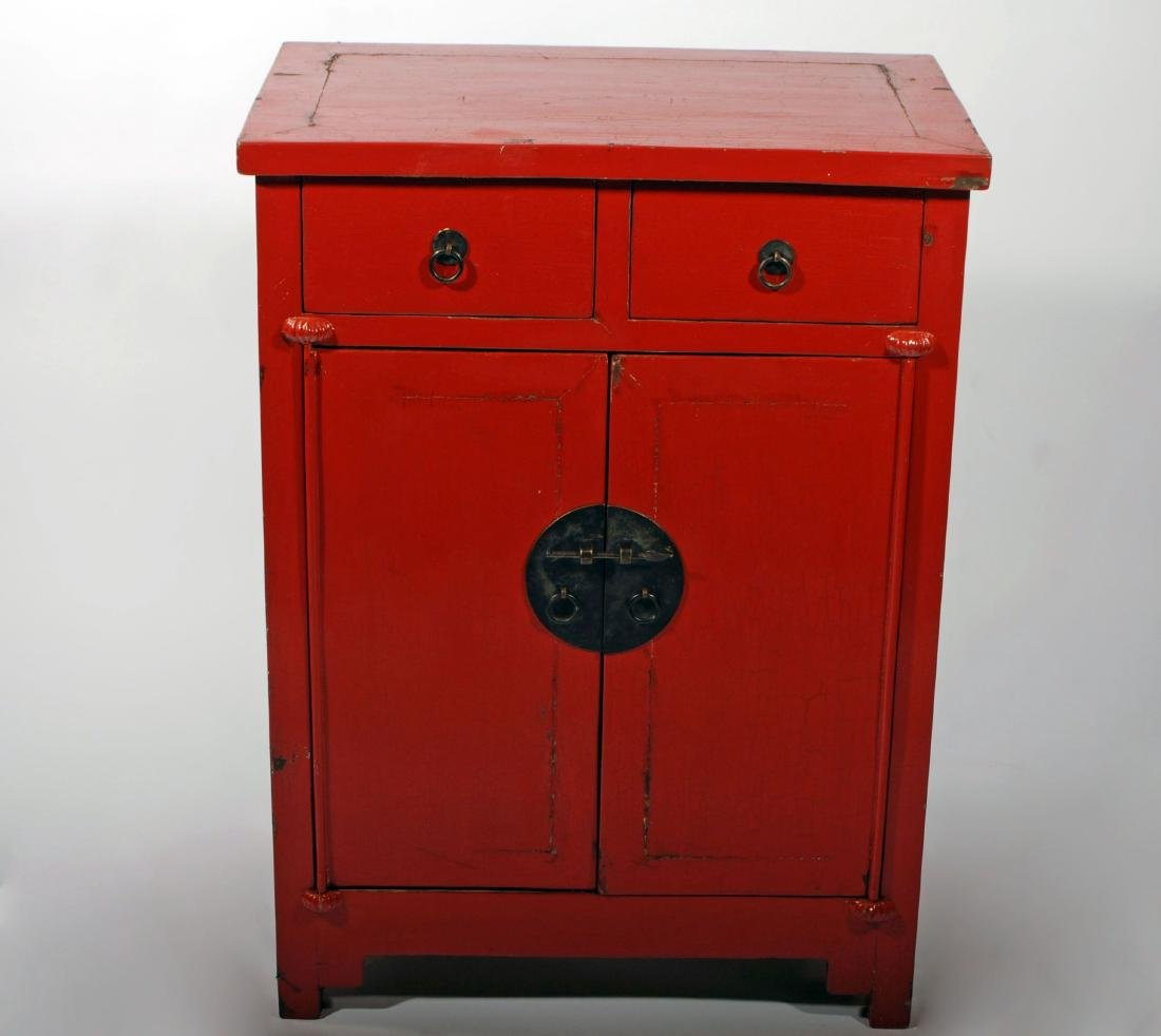 Red Lacquered Chest