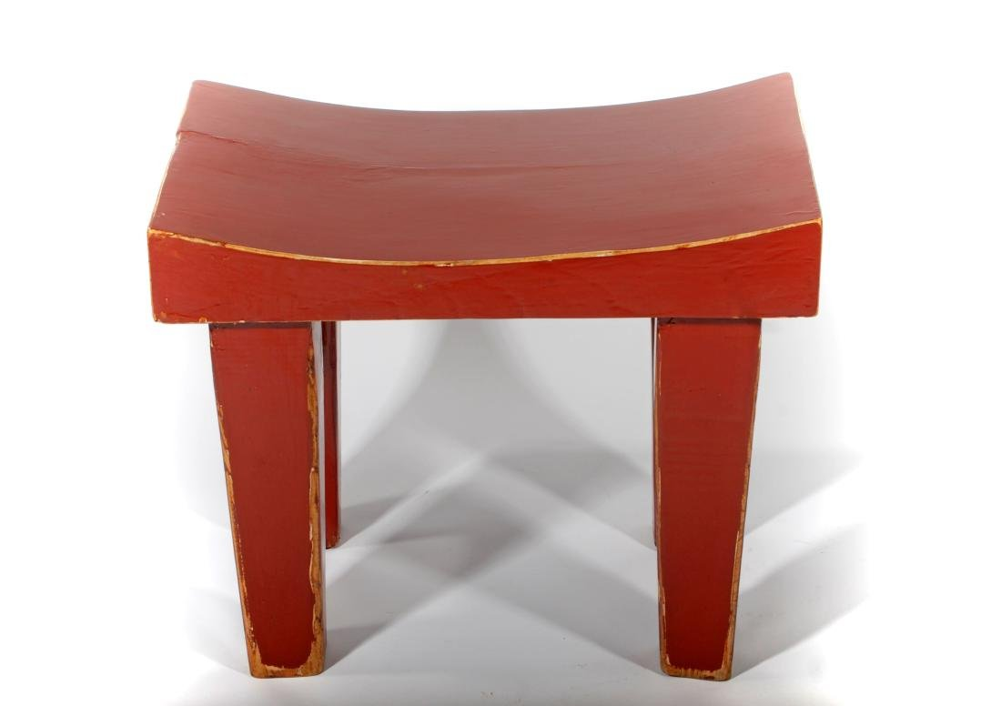 Red Lacquered Bench