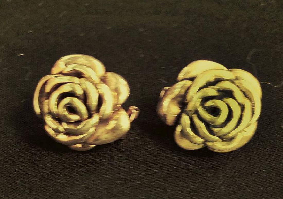 Small Rose earrings with French Back