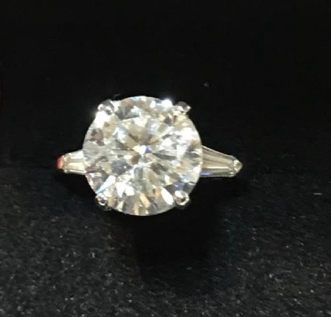 Platinum Engagement Diamond Ring
