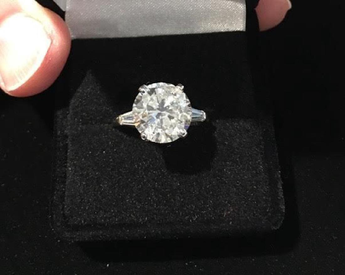 Platinum Engagement Diamond Ring - 2