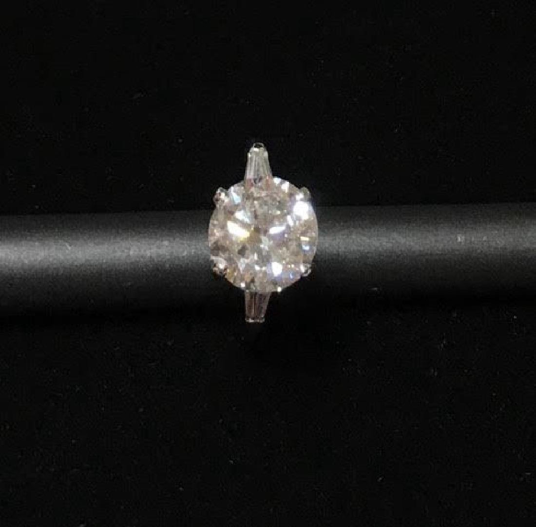 Platinum Engagement Diamond Ring - 4