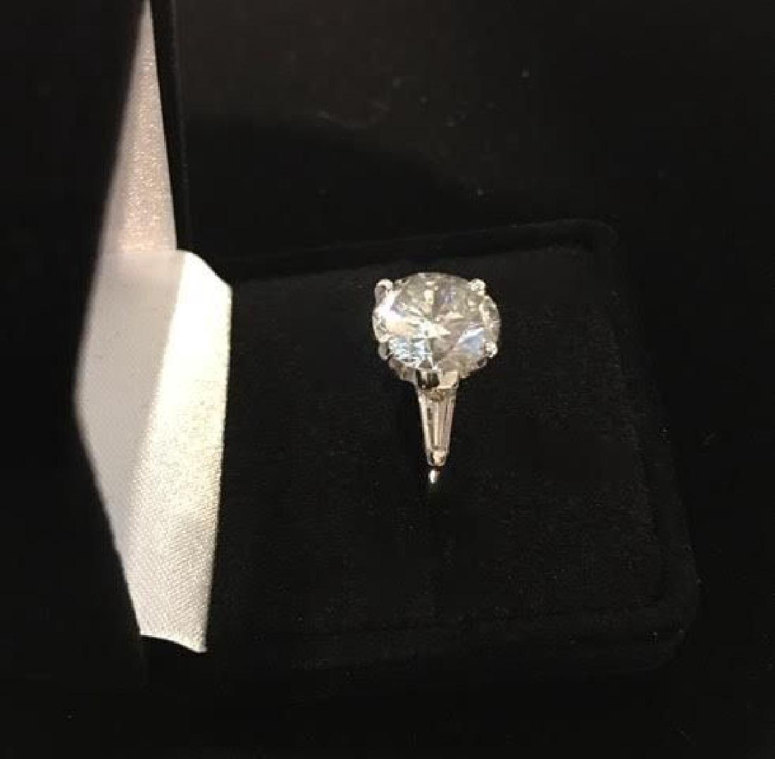 Platinum Engagement Diamond Ring - 5