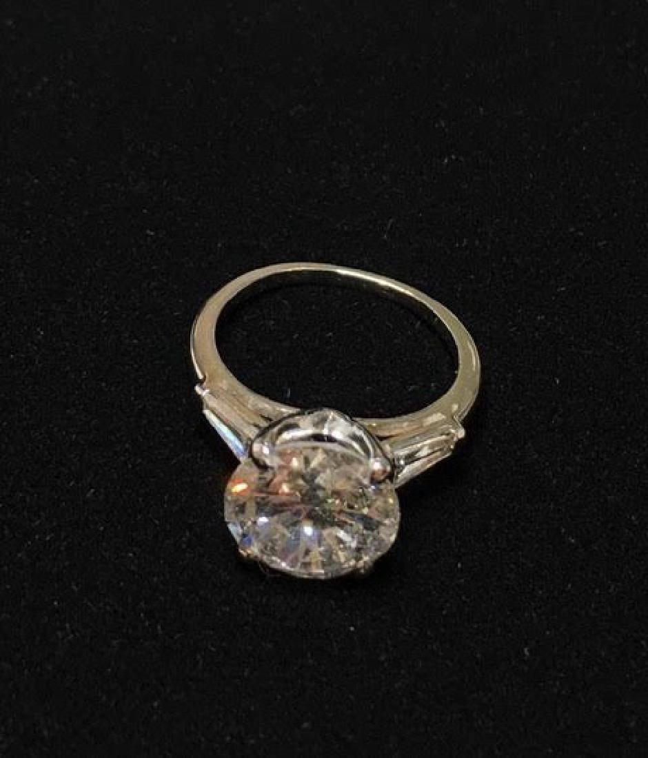 Platinum Engagement Diamond Ring - 7