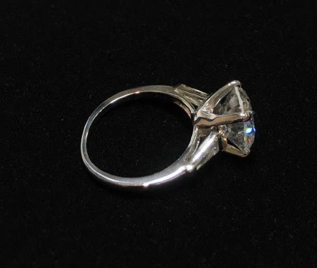 Platinum Engagement Diamond Ring - 9