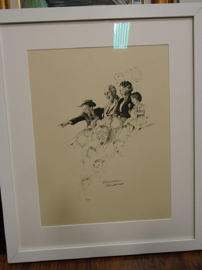 "Norman Rockwell ""Circus Spectators"" Artist Proof. In a"