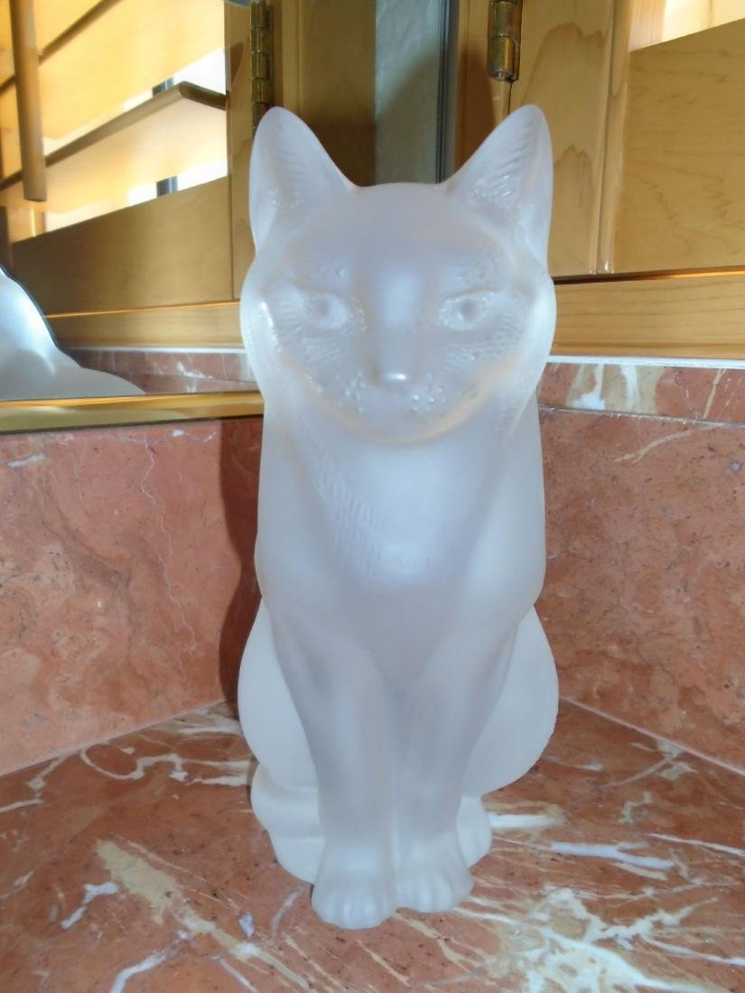Lalique Crystal sitting cat