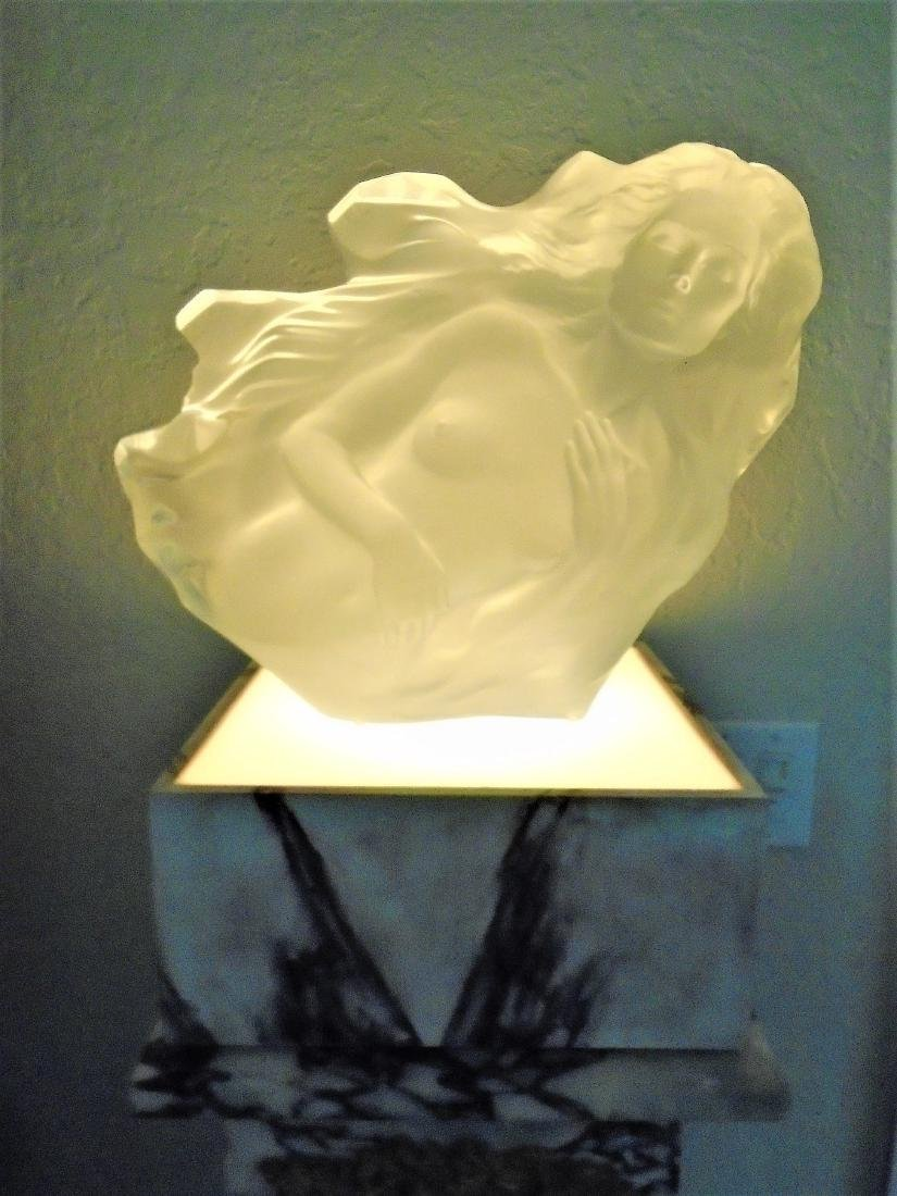 """Eve"" acrylic sculpture of a woman by artist Frederick"