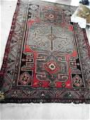 ANTIQUE ORIENTAL RUG PERSIAN WOOL IN HERIZ PATTERN