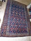 ANTIQUE ORIENTAL RUG c1850S PERSIAN WOOL