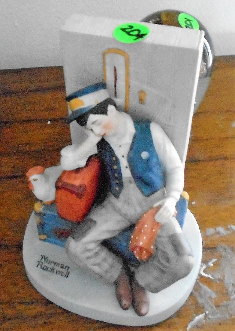 ASLEEP ON THE JOB' NORMAN ROCKWELL COLLECTIBLE FIGURINE