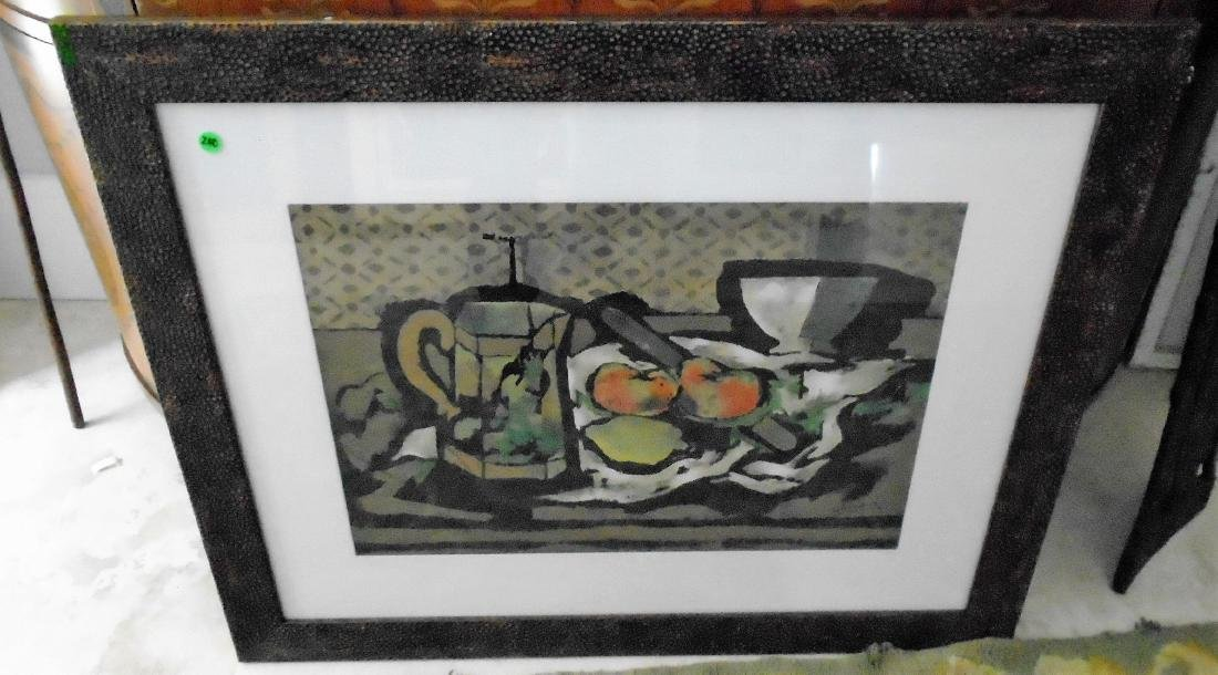 FRAMED LITHOGRAPH OF STILL LIFE