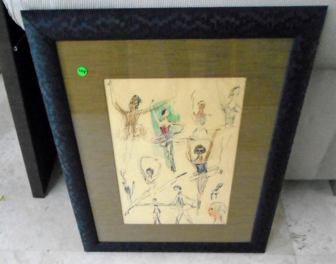 FRAMED INK SKETCH BY MARJORIE LIEBMAN