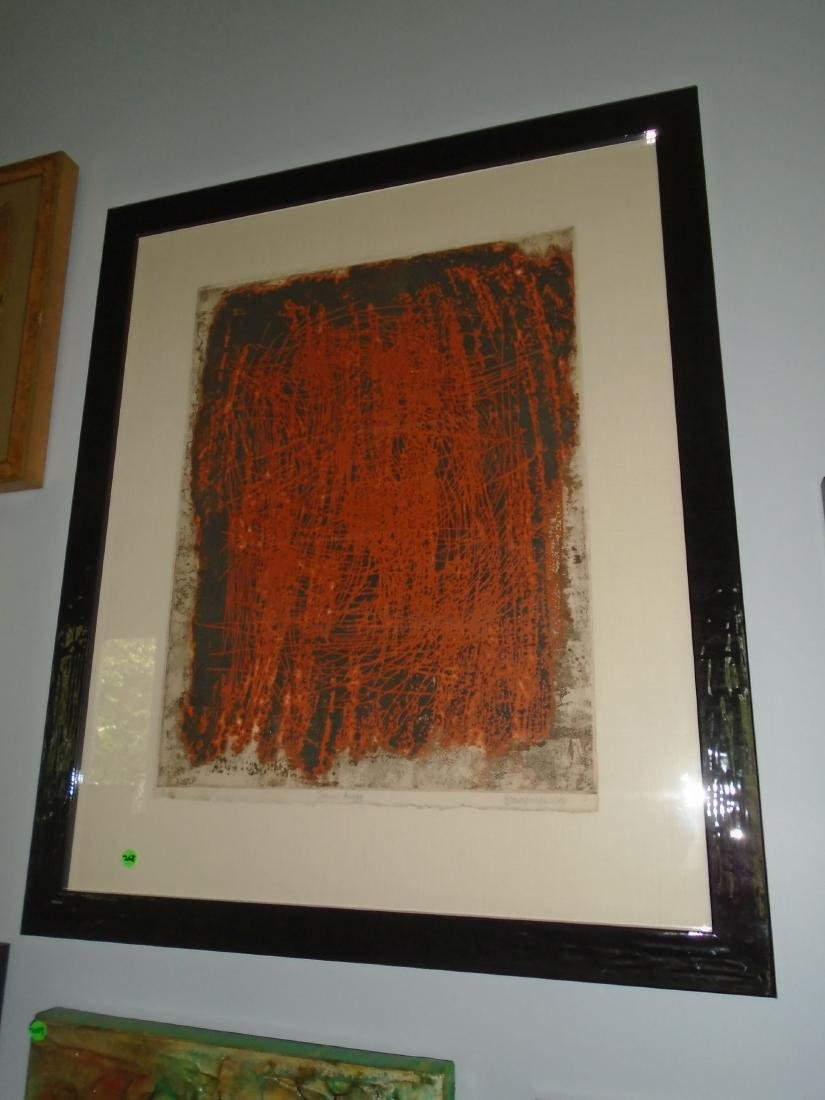 Framed lithograph, Pencil signed by the artist