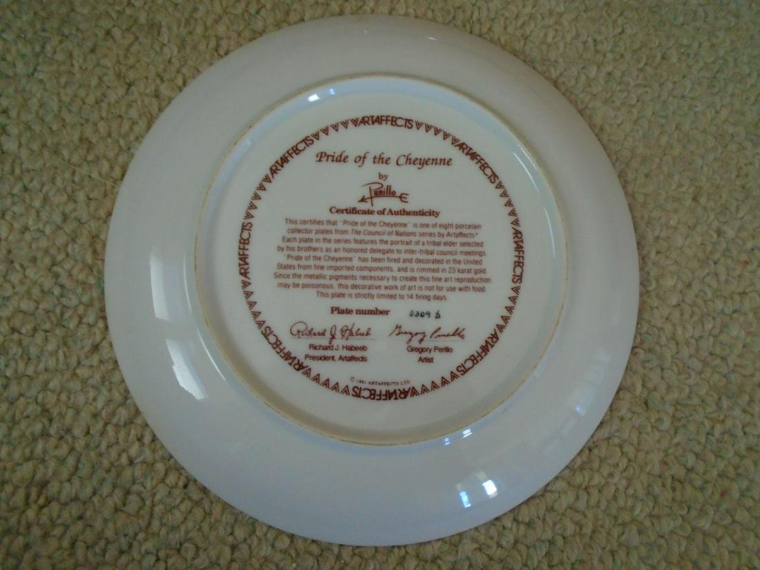 Set of 4 Artaffects Porcelain plates by Gregory - 10