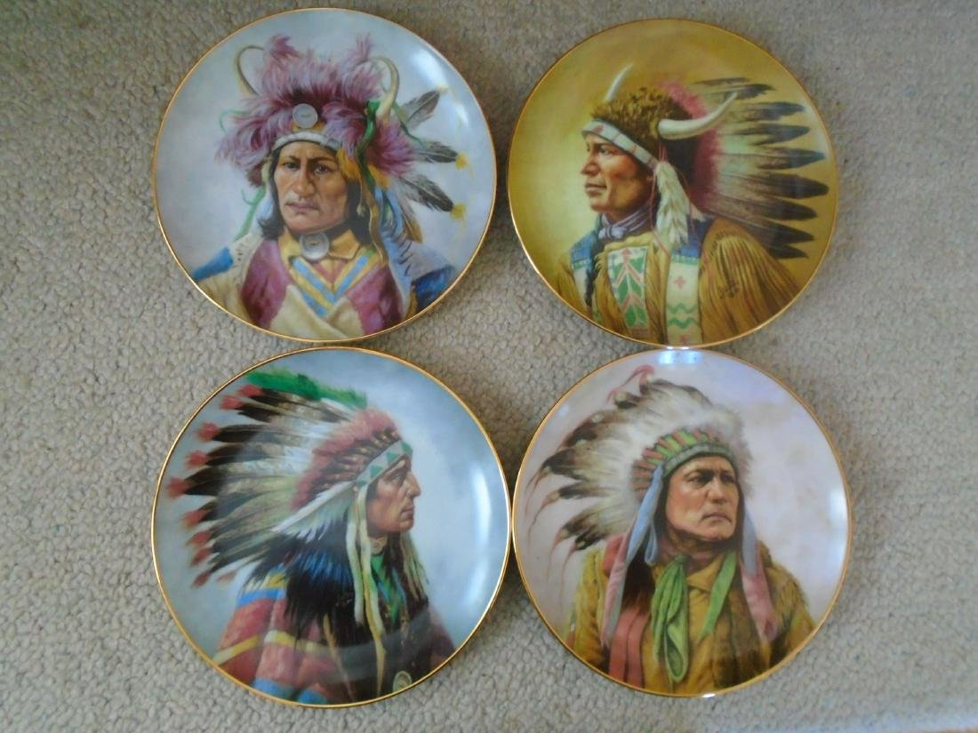 Set of 4 Artaffects Porcelain plates by Gregory