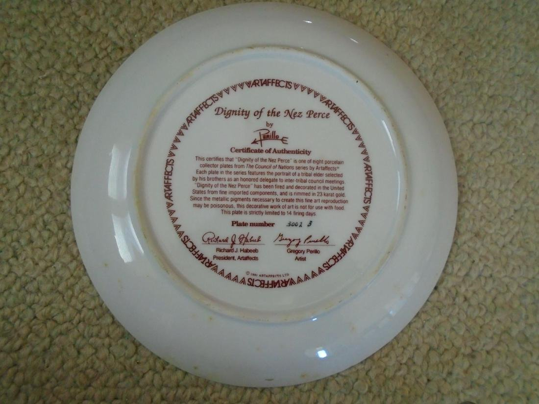 Set of 4 Artaffects Porcelain plates by Gregory - 4