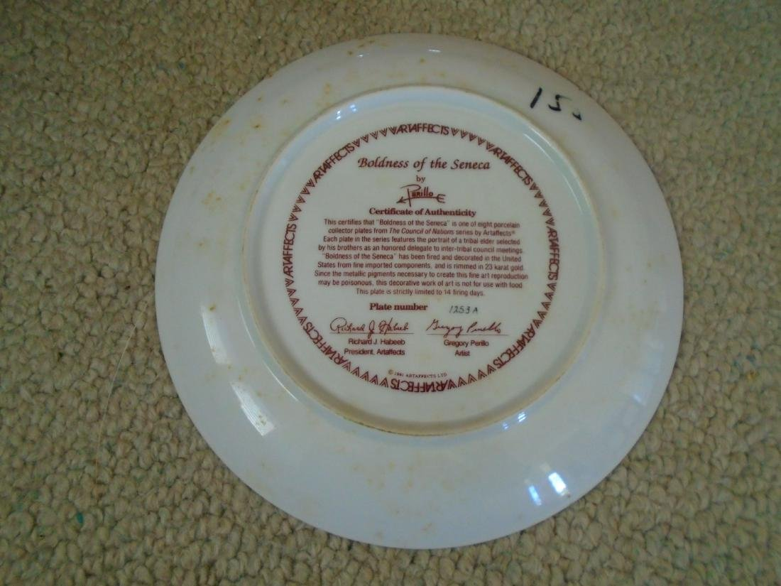 Set of 4 Artaffects Porcelain plates by Gregory - 7