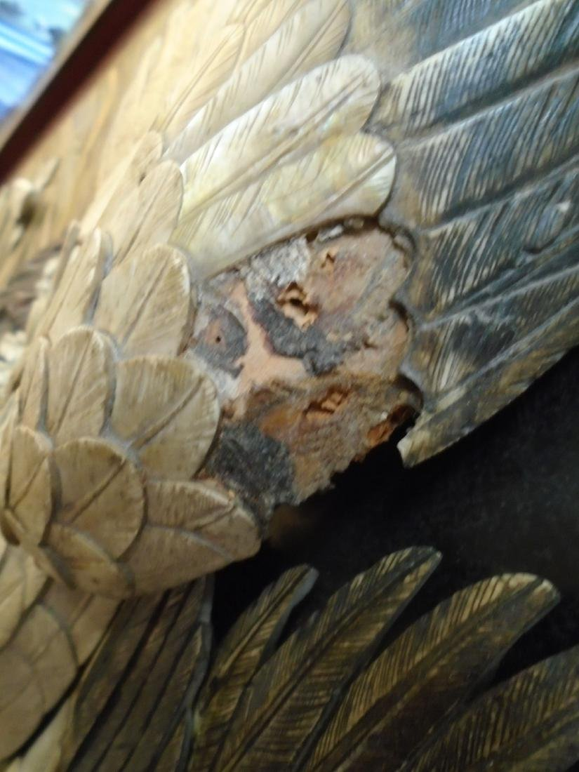 Asian Floor Screen- Bone, mother of pearl, and wood, - 3