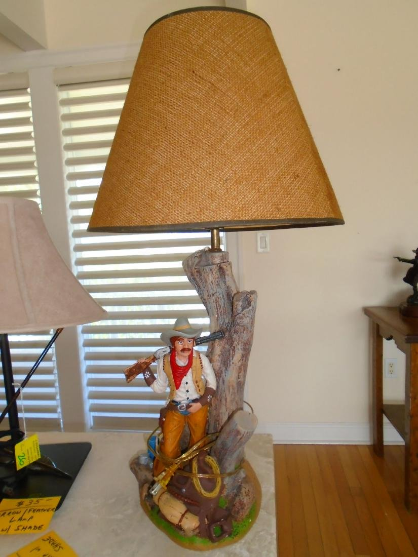 Cowboy Table Lamp with shade.