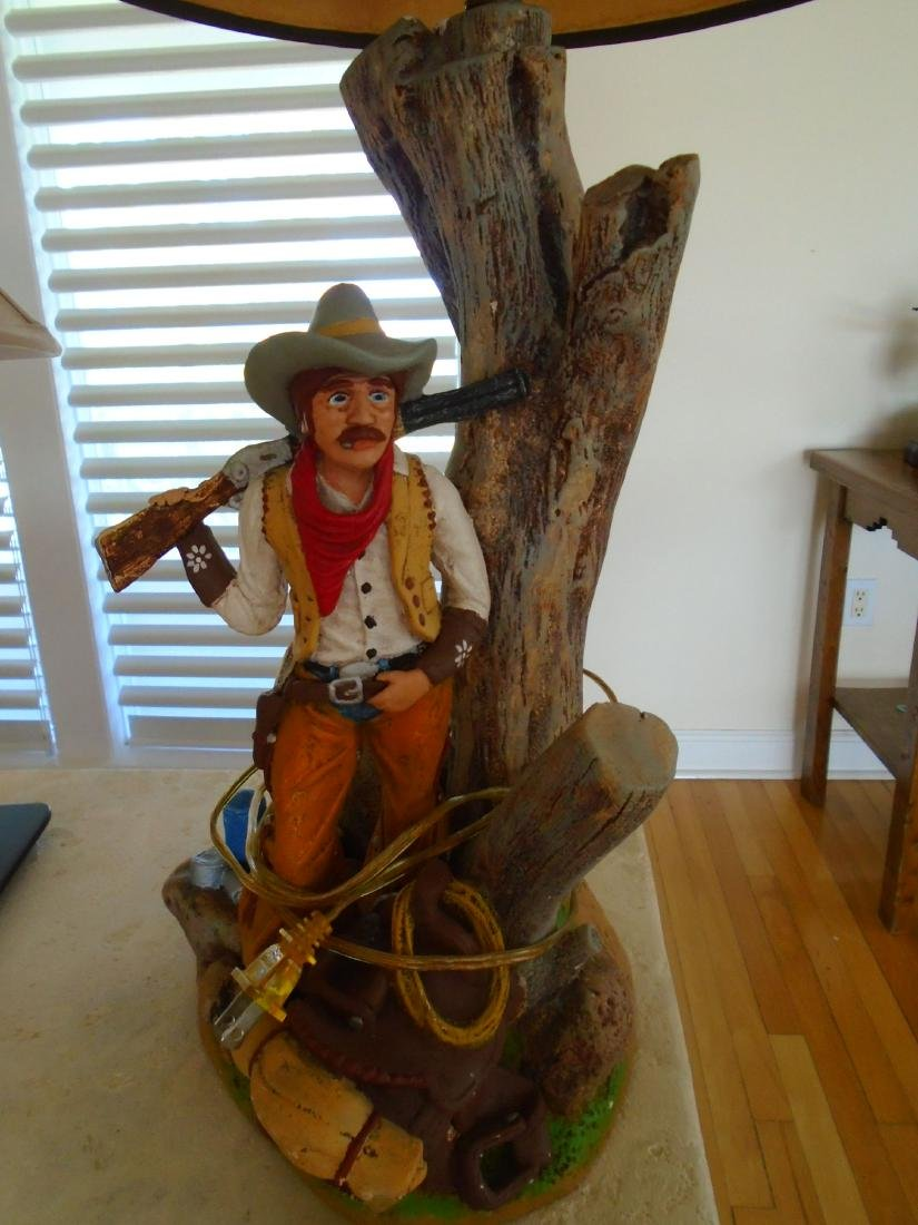 Cowboy Table Lamp with shade. - 2