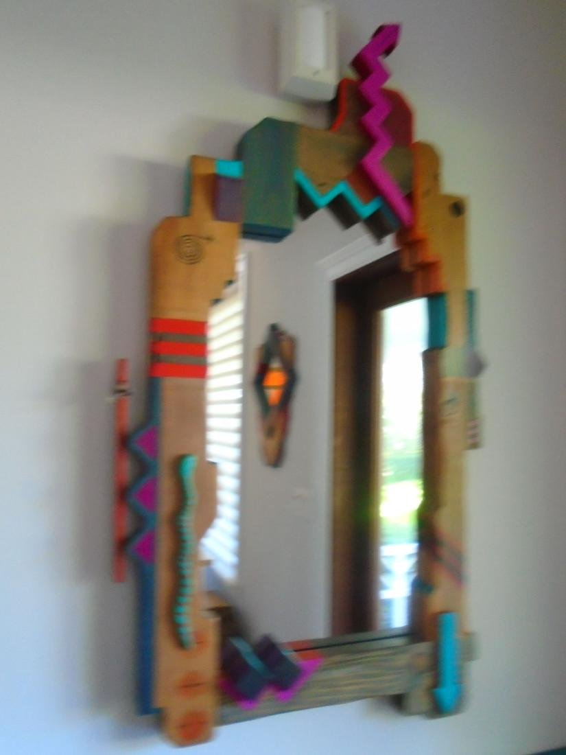 2 pc Mirror & Wall hung Console. - 2