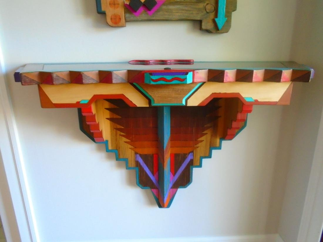 2 pc Mirror & Wall hung Console. - 5
