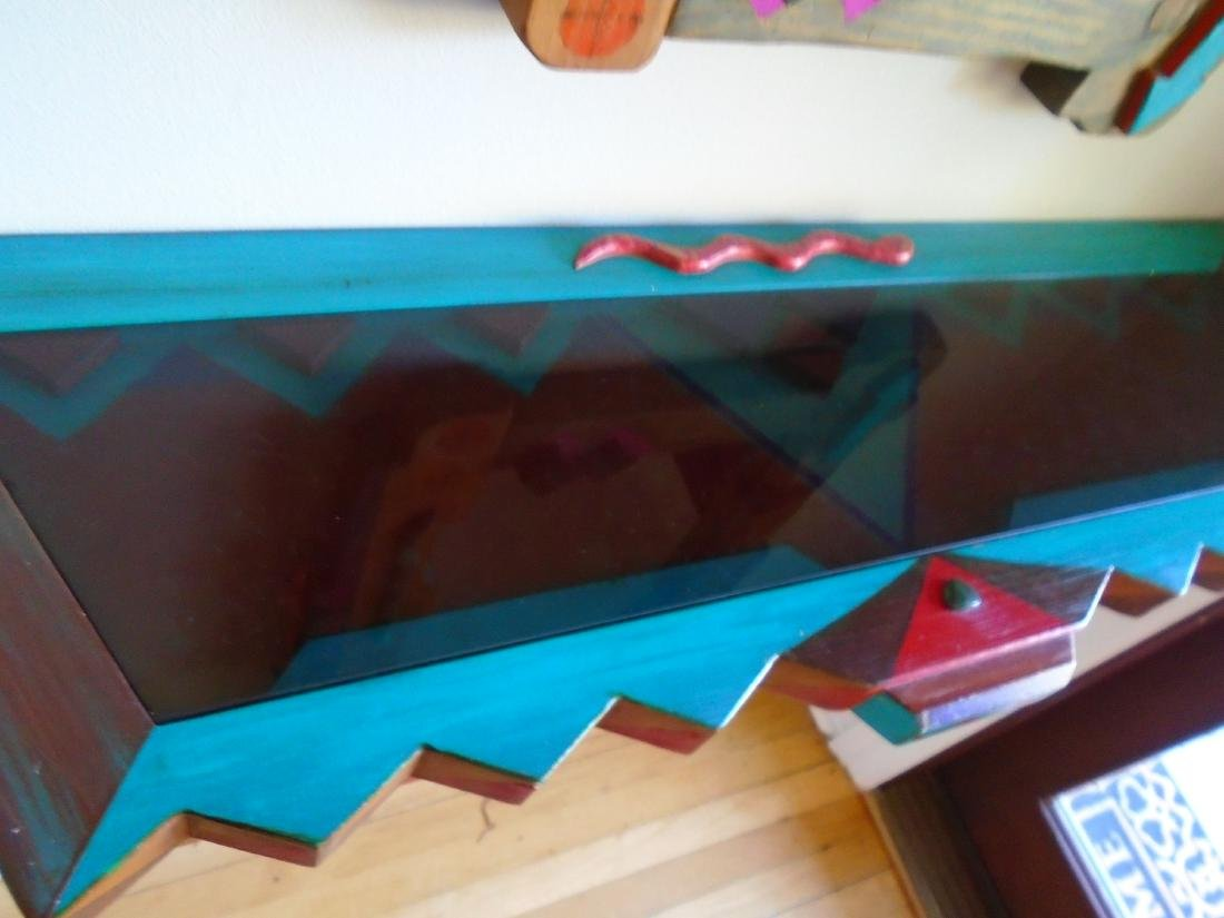 2 pc Mirror & Wall hung Console. - 7