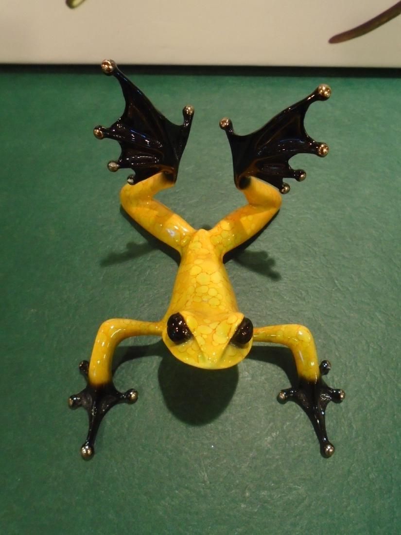 Sunbather Yellow and black frog Bronze Sculpture