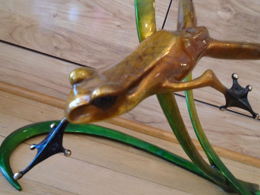 Free Spirit Copper and black frog on a double branch - 2