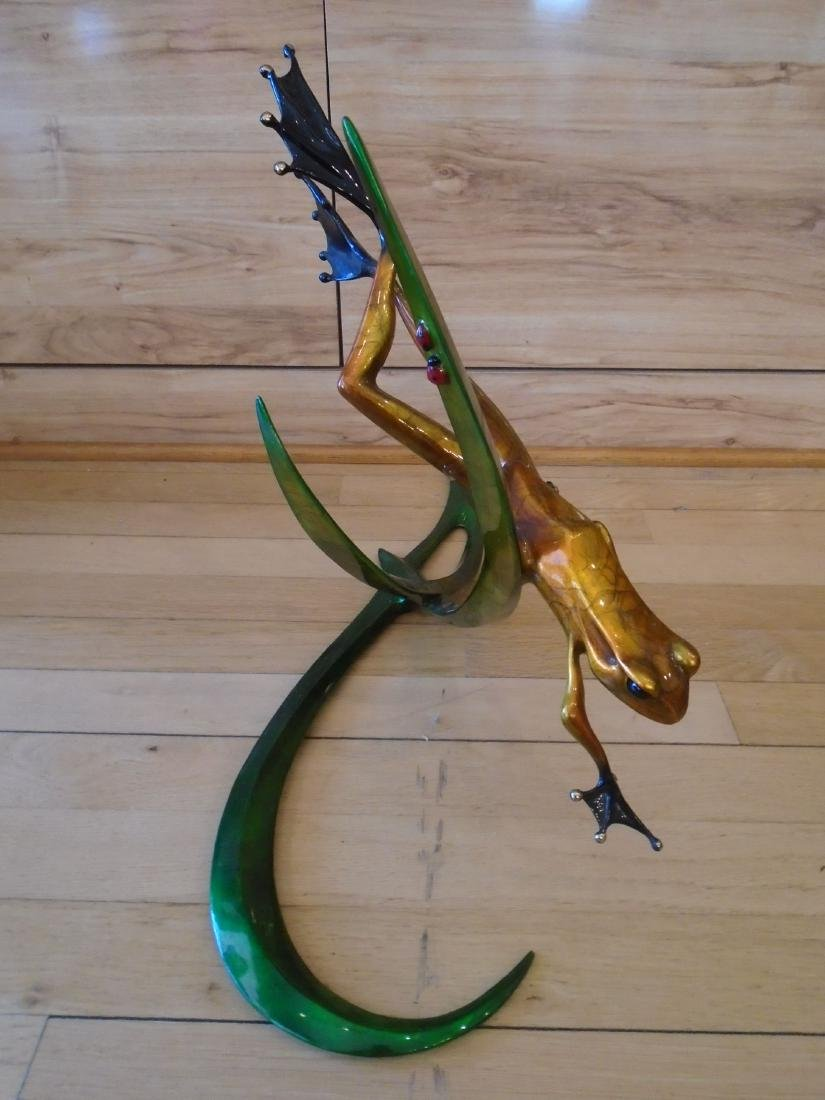 Free Spirit Copper and black frog on a double branch - 3