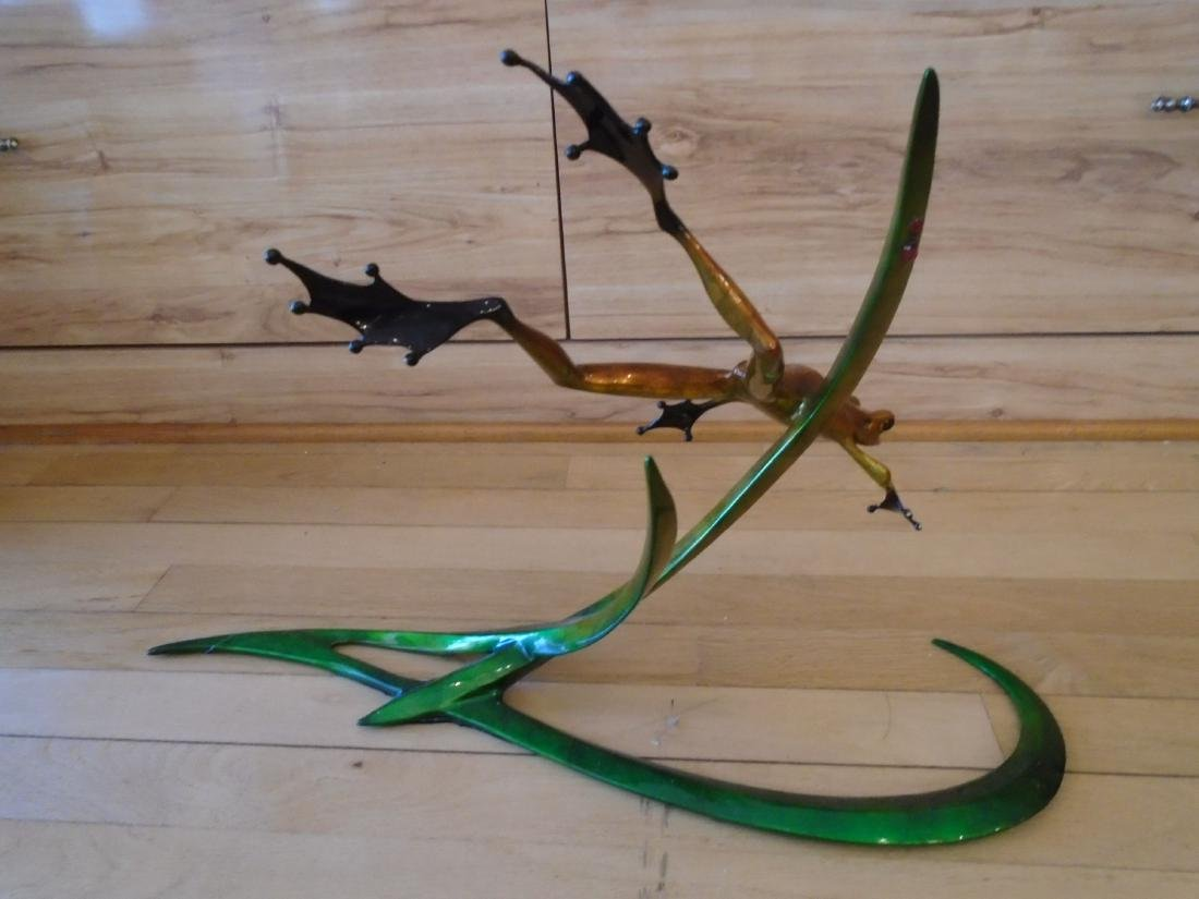 Free Spirit Copper and black frog on a double branch - 4