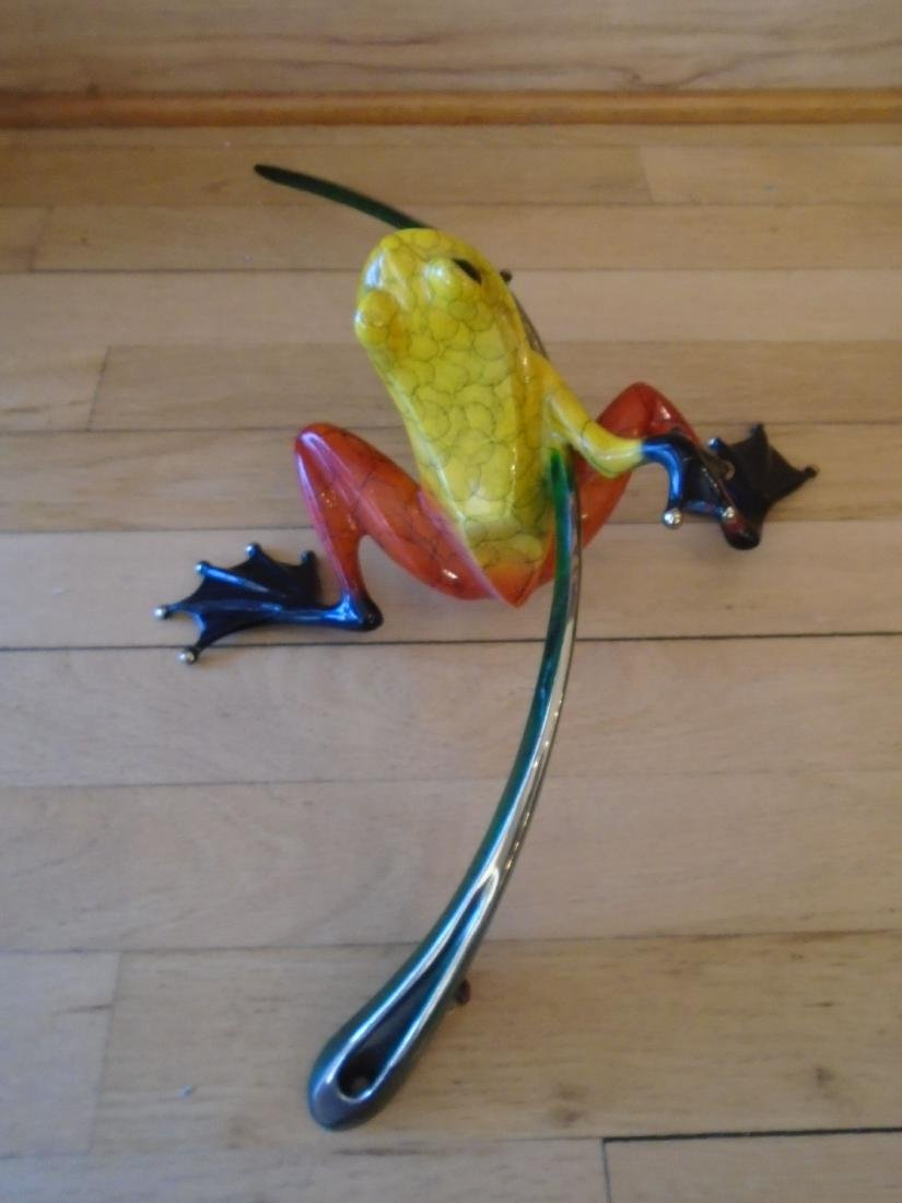Ready Set Go Yellow, red & black frog on a branch - 4