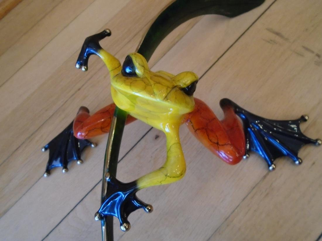 Ready Set Go Yellow, red & black frog on a branch - 5
