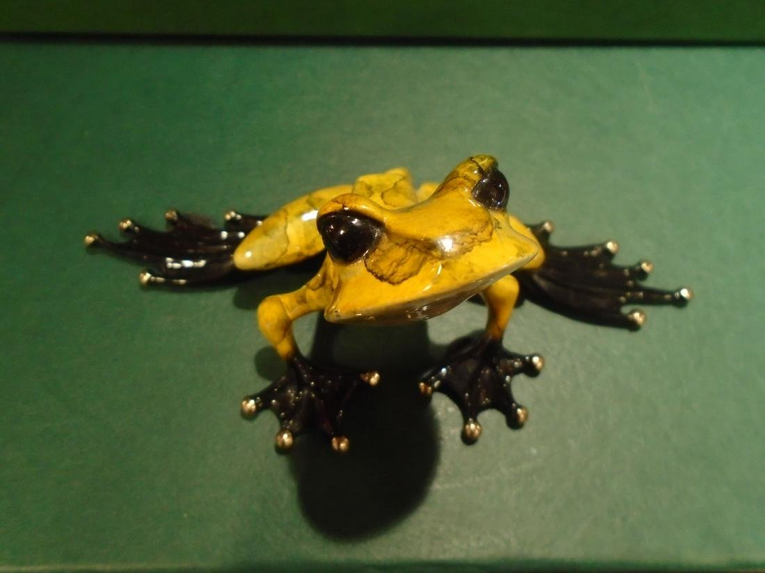 What's Up Yellow and black marbled frog Bronze - 2