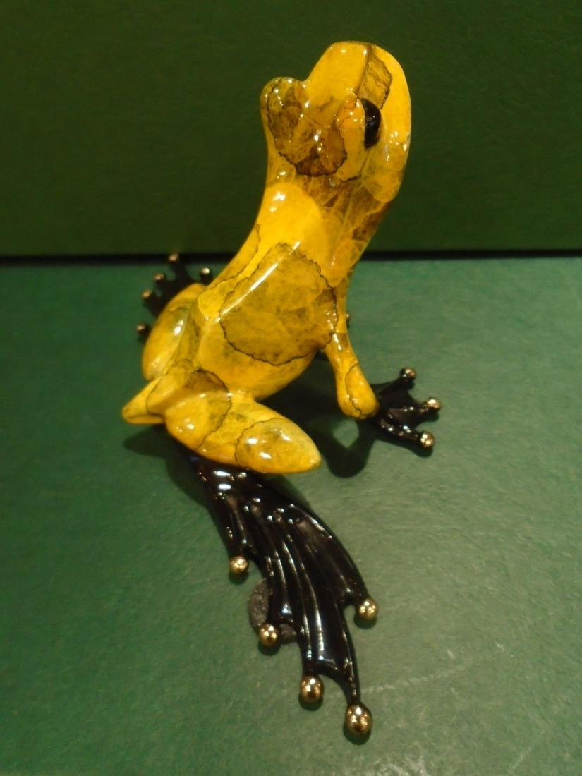 What's Up Yellow and black marbled frog Bronze - 4