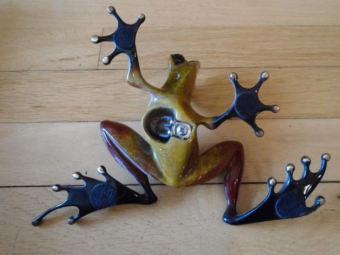 The Twist Brown, rust & black frog Bronze Sculpture - 6