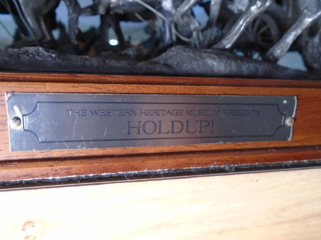Hold Up Stagecoach with horses and figures Bronze - 4