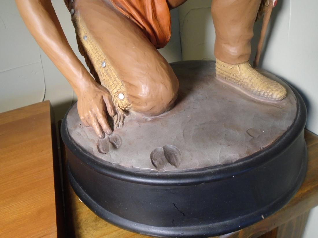 Universal Statuary Indian kneeling to read animal foot - 3