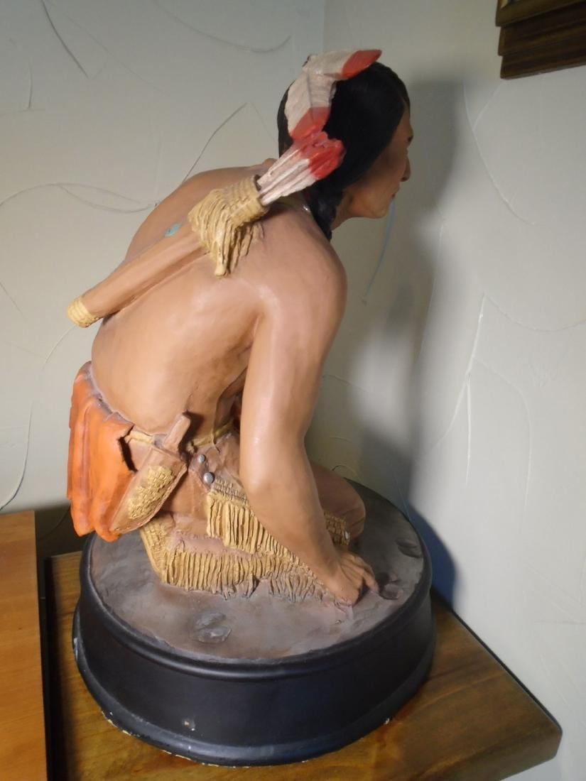 Universal Statuary Indian kneeling to read animal foot - 4