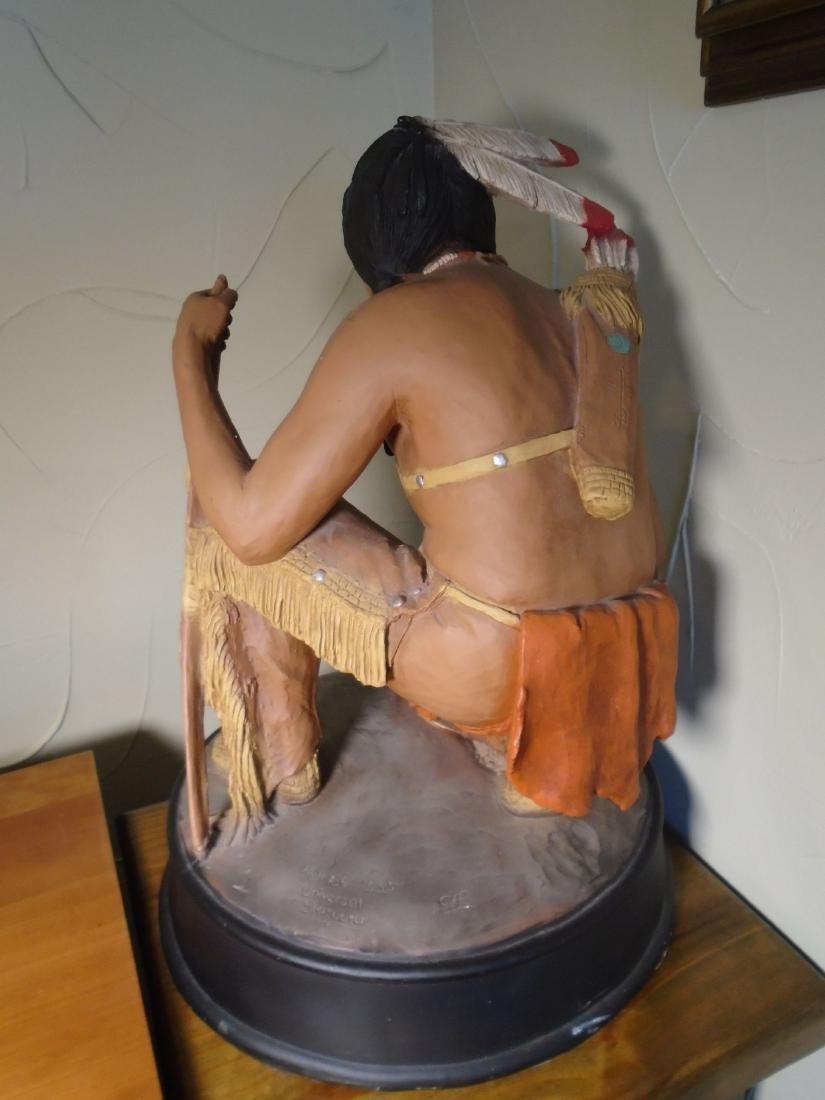 Universal Statuary Indian kneeling to read animal foot - 5