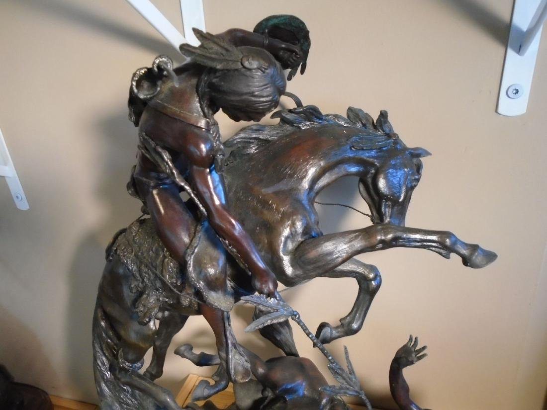 Counting Coup Indian on a horse, helping another Indian - 2