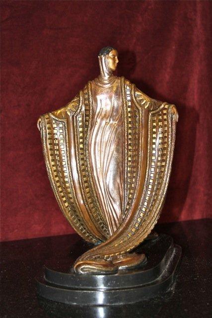 """2: Erte """"La Mysterieuse"""" Bronze Sculpture"""