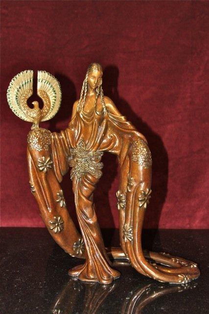 "3: Erte ""Wisdom"" Bronze Sculpture"