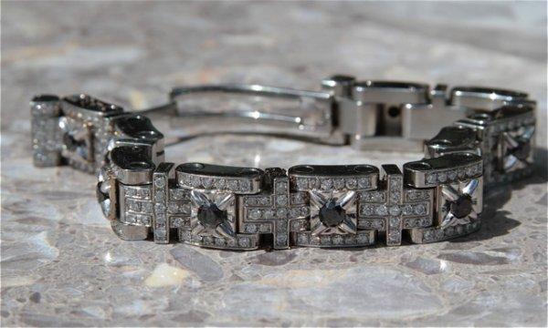 13: Men's Stainless Steel Bracelet with Diamonds