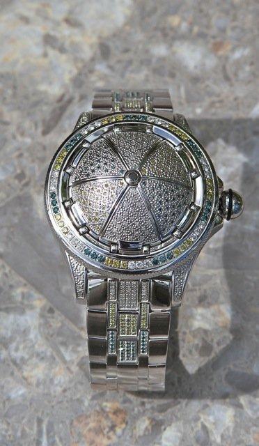 15: JPM 5.25 Carat Diamond Bling Twist Open Watch