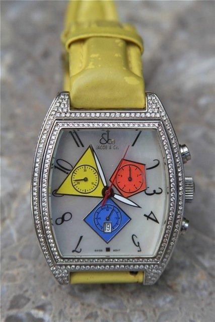 16: Jacob & Co. Chronograph Quasar with Diamonds