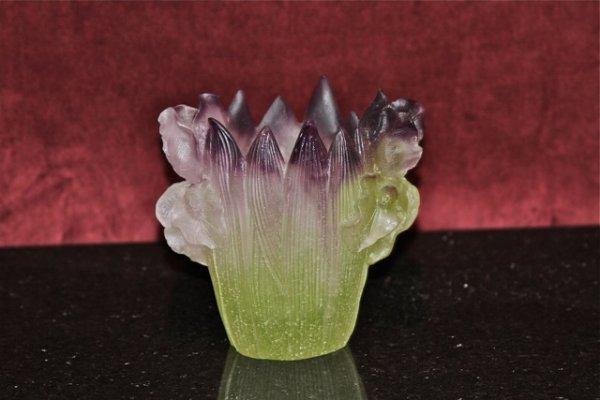 20: Daum Iris Small Vase
