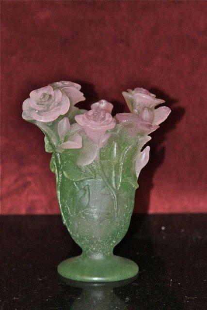 21: Daum France Roses Vase Medium