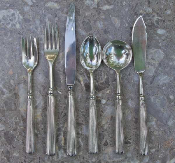 24: Sterling Silver Flatware by Buccellati